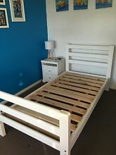 Single Bed and bed side with mattress all in excellent condition Belrose Warringah Area Preview