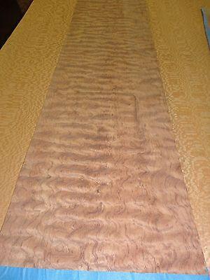 Bubinga Waterfall Figured Wood Veneer 13 X 78 Raw No Backing 132 Thick
