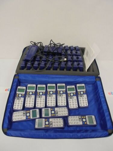 Lot of 51 Smart Response PE Classroom System Clickers & 2 Receivers w/ Case