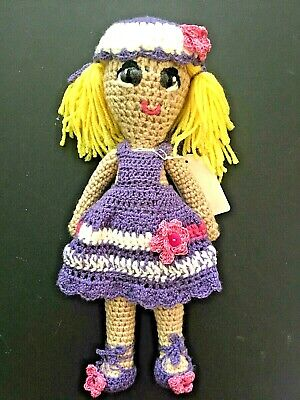 Doll: Handmade Crocheted 12 inch with 2 Outfits Included for sale  Lawrenceville