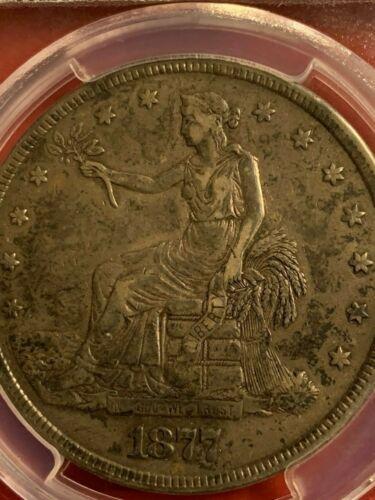 1877 Trade Dollar Gradede XF 40 by PCGS