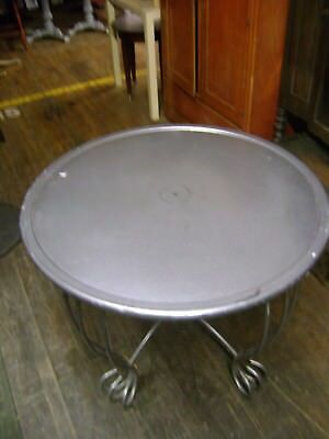 Round Grey Color Steel Display Table