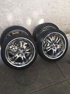 """18"""" 5x100 American Racing Aftermarket Chrome Wheels!"""