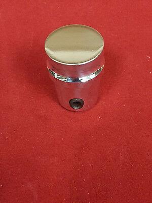 - NEW Universal Polished Billet Aluminum Dash Knob Chevy Ford Mopar - 3/16