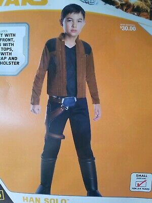 NEW Han Solo Star Wars Costume Child Small 4-6 for 3-4 Years (Star Costume For Baby)
