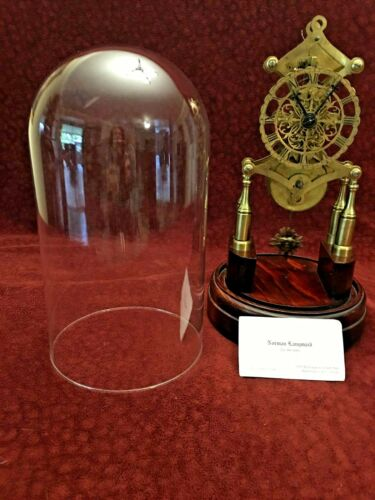 Antique Skeletonized Mantle Clock/ Glass Dome from Norman Langsmaid