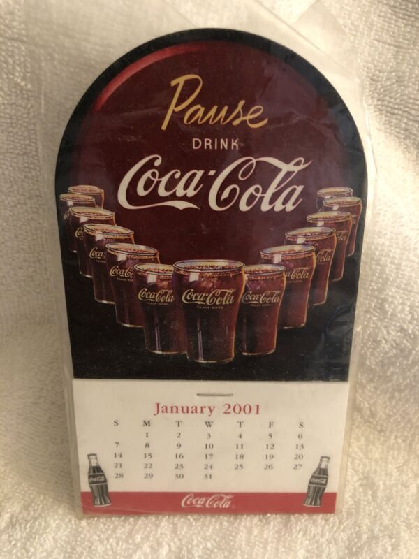 2001 coca cola magnetic calendar never used