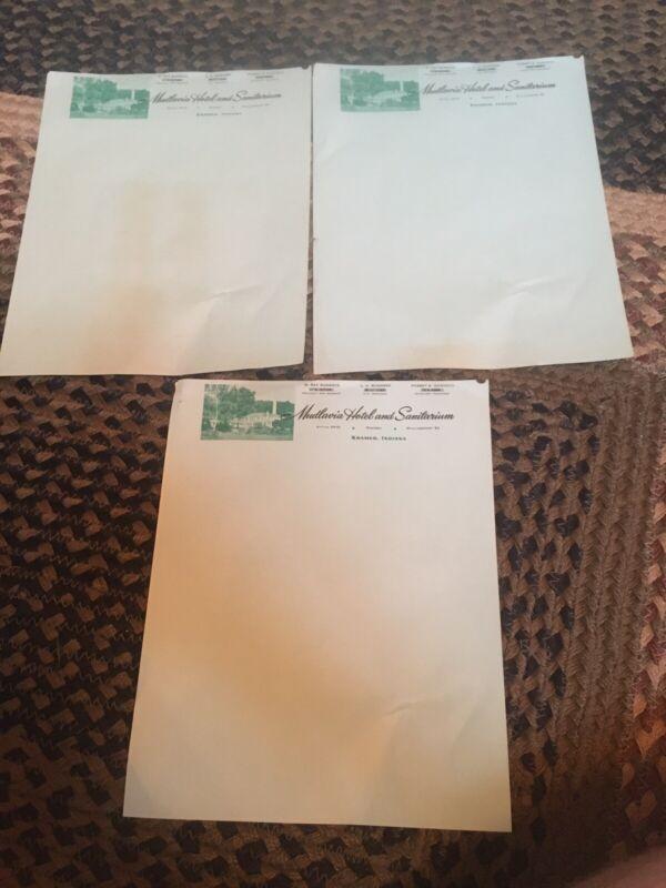 Mudlavia Hotel And Sanitarium Paper
