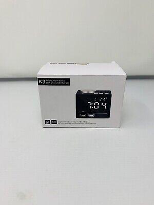 K3 Radio Alarm Clock With Dual Usb Charger