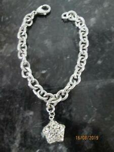 Sterling silver thick bracellet an ring hallmarked 925 LARGER SIZES