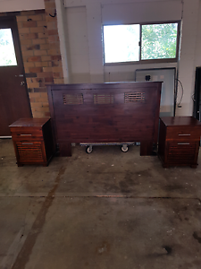 Queen size bed  headand side draws Merrimac Gold Coast City Preview