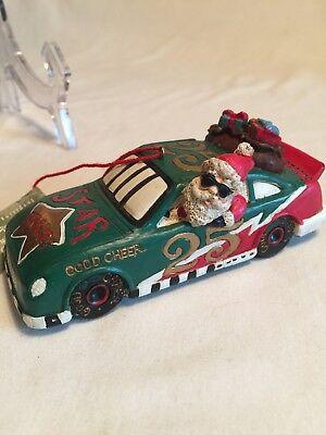 Santa Good Cheer Racing Car Ornament  Good Cheer Ornament