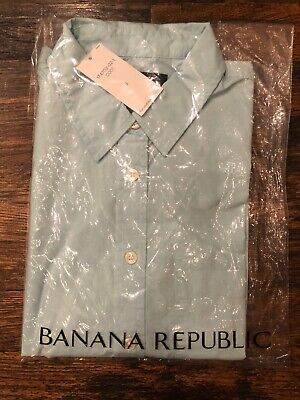 NEW Banana Republic Women's Long Sleeve Easy Fitting Button Down Shirt Top Small Banana Republic Long Sleeve Shirt