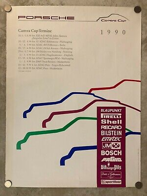 "1990 Porsche 911 ""Carrera Cup"" Showroom Advertising Poster RARE!! Awesome L@@K"