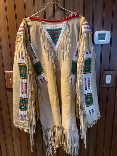Antique Old Native American Sioux War Shirt C. 1920