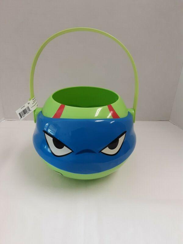 """Teenage Mutant Nija Turtles """"Leonardo"""" Halloween/Easter Bucket BNWT!"""