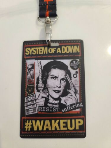 🤘🤘 SYSTEM OF A DOWN 🤘🤘 2011 SOAD CONCERT 🎵 BACKSTAGE PASS LAMINATE 🎵 RARE!