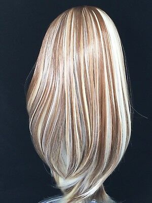 Doll wig 10-11 brown wit highlights (101)