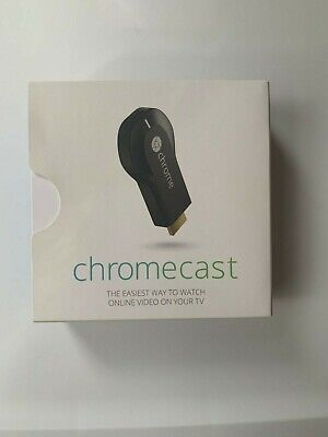 Google Chromecast 1st Generation (HDMI) Used only once! Barely used! With Box!