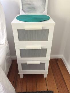 Awesome White Side Table and Dresser Set $55 Bargain!