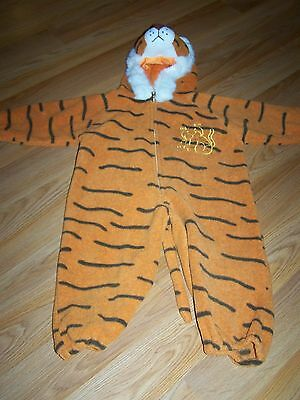 Baby Size 18-24 Months Plush Tiger Halloween Costume Hooded Jumpsuit Orange EUC ](Tiger Halloween Costume Baby)