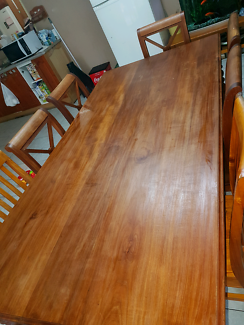 Solid timber 8 seater dining table country style