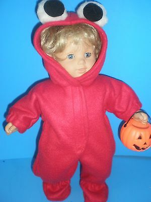 Handmade Halloween Costumes For Babies (CLOTHES FOR BITTY BABY  ELMO  SLEEPER HALLOWEEN  COSTUME)