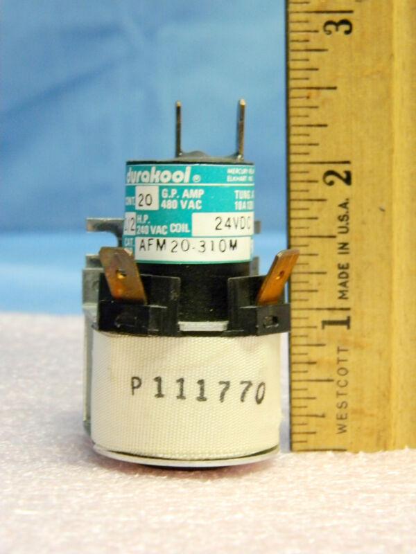 Durakool AFM30-310-M Mercury Displacement Contactor SPST-NO 24VDC 20A