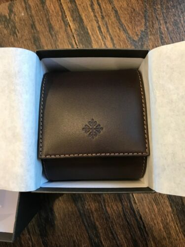 Genuine PATEK PHILIPPE Brown Leather Travel Watch Pouch Case