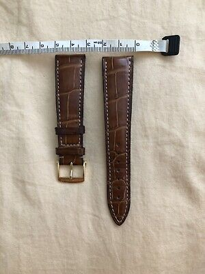 Blancpain Crocodile Watch Strap With Gold Clasp