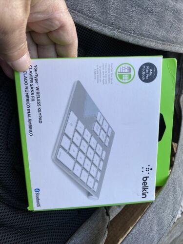 Belkin - YourType Bluetooth Wireless Keypad for Apple® iMac®, Mac Pro® and Ma...
