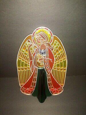 Hallmark Christmas Angel Translucent Acrylic Stain Glass Look Tree-Topper 1979