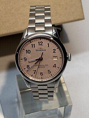 """Shinola Detroit """"The Vinton"""" Ladies 38mm Bracelet Watch $550 MSRP"""