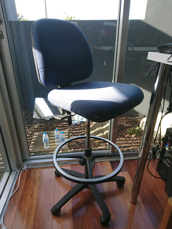 DRAFTING CHAIR OFFICE HIGH CHAIR ADJUSTABLE STANDING DESK CHAIR