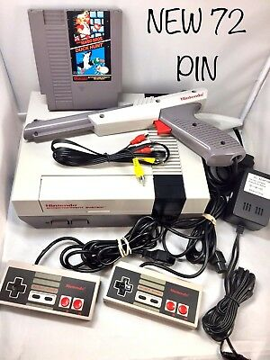 Refurbished  Original Nes Nintendo System Console   New 72 Pin   Choose Bundle