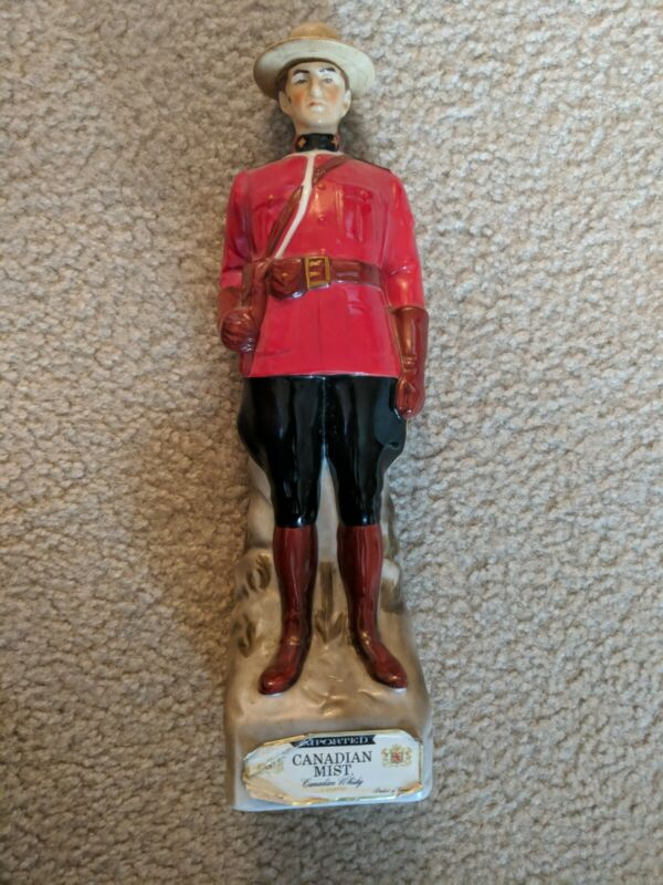 Vintage 1969 Mounted Police Mounty Mountie Canadian Mist Whiskey Decanter