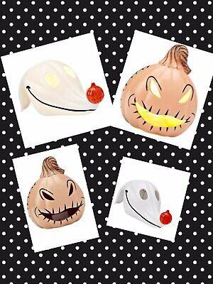 Light Up Pumpkins (Nightmare Before Christmas Zero And Oogie Boogie Mini Light Up Pumpkins JOL)
