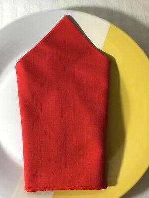Cloth Dinner Napkins Red 8