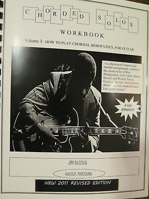 Chorded Solos Work book Chordal Bebop lines 4 jazz guitar archtop wes montgomery