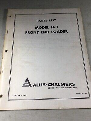 Allis Chalmers H3 Front End Loader Parts Manual