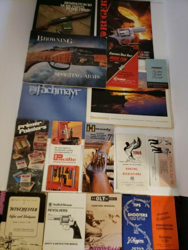 Vintage Lot of Gun Catalogs/Brochures: Browning/Remington/Ruger/Winchester