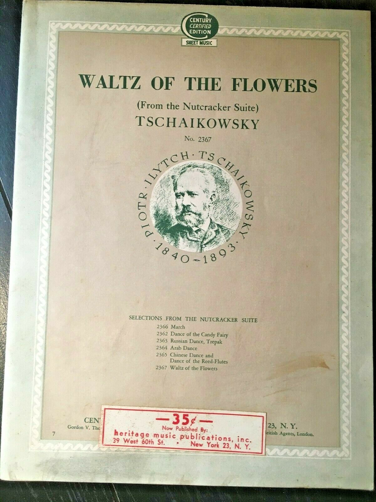 Waltz Of The Flowers from Nutcracker Suite Tschaikowsky 1925 - Sheet Music - $1.99