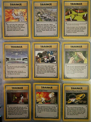 Near Complete Gym Heroes UNCOMMON TRAINER Set 14x Cards 105-119/132 Pokemon TCG for sale  Shipping to Nigeria