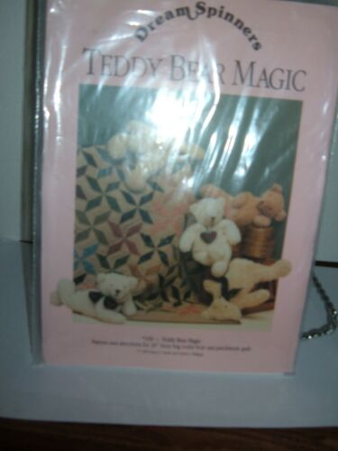 """Dream Spinners 20"""" Teddy Bear Magic Patchwork Quilt Sewing Pattern 166 UNCUT"""