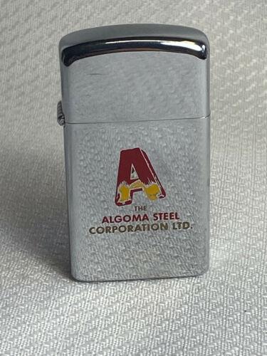 Vtg 1971 ZIPPO Algoma Steel Corp.Canada Vietnam Era Slim Cigarette Lighter