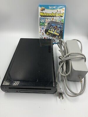 Nintendo Wii U Black 32GB Replacement Console Only With A Game And Charger
