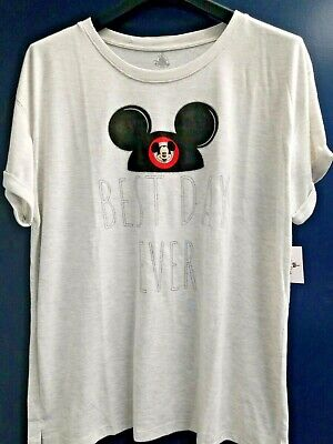 NWT Disney World Disneyland Parks Exclusive Best Day Ever Mickey Mouse Shirt (Best Disney World Park)