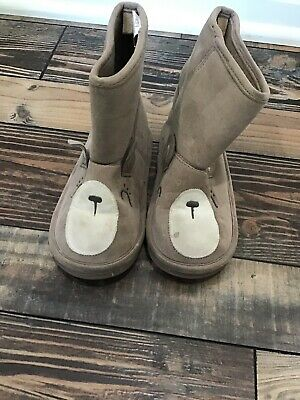 Gymboree Woodland Wonder Bear Brown Boots Shoes Girls Size 9