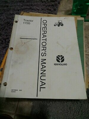 Nh New Holland 1720 Tractor Owner Owners Operator User Guide Manual Original