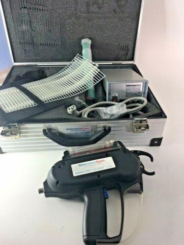 Hellermann Tyton Autotool 2000 Cable Tie Assembly Gun & Power Supply Kit w/ Case